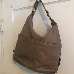 Tan leather shoulder bag tignanello